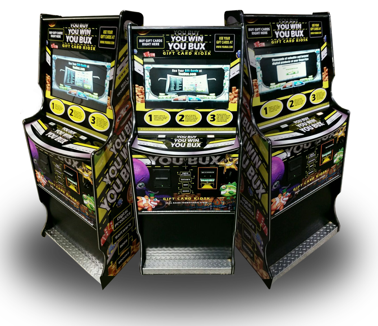 Youbux Gift Card Kiosks With Sweepstakes Skill Nudge Games